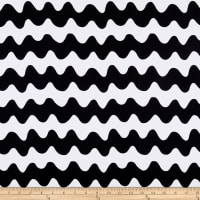 St. Maarten Swimwear Knit Wavy Stripes Black/White