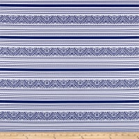 St. Maarten Swimwear Knit Aztec Blue/White