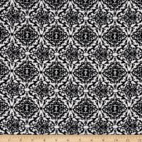 Polyester Crepe Damask Black/White