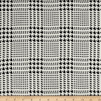 Polyester Prints Houndstooth White/Black