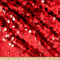 Square Dazzle & Mesh Sequin Red