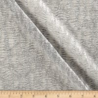 Tissue Knit Metallic Silver/Grey