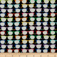 Crepe de Chine Glasses Black/Multi