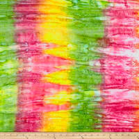 Cotton Jersey Knit Tie Dye Lime/Pink
