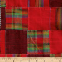 Cotton Patchwork Madras Red