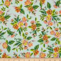 Cotton + Steel Rifle Paper Co. Menagerie Jardin De Paris Mint