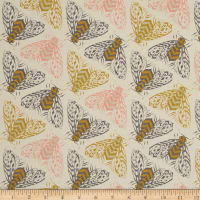 Cotton + Steel Magic Forest Bees Yellow