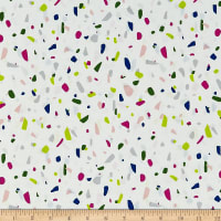Cotton + Steel Snap To Grid Terrazzo Neon Cream