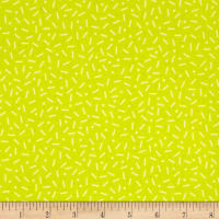 Cotton + Steel Snap To Grid Little Pill Dot Neon Lemon Yellow