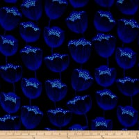 Cotton + Steel Magic Forest Rayon Challis Magic Tulips Navy