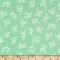 Afternoon In The Attic Flannel Cameo Blossom Mint