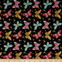 Lori's Art Garden Butterflies Black
