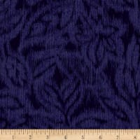 Miyako Graphic Leaf Dark Blue