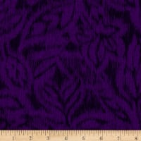 Miyako Graphic Leaf Purple
