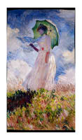 "Kaufman Claude Monet Digital Prints Lady 24"" Panel Sky"