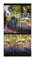 "Kaufman Claude Monet Digital Prints Garden 24"" Panel Garden"