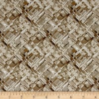 Kaufman Microlife Textures Digital Prints Basket Weave Stone