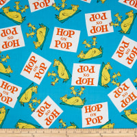 Dr Seuss Hop On Pop Words Blue