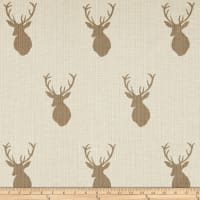 Mountain Cabin White Tail Jacquard Mount Taupe