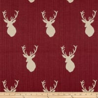 Mountain Cabin White Tail Jacquard Mount Garnet