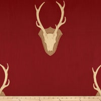Mountain Cabin Woodland Mount Jacquard Crimson