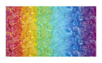 Kaufman Effervescence Digital Print Double Border Rainbow