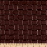Faux Leather Basketweave Wine