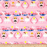Kokka November Books Swan Lake Canvas Oxford Pink