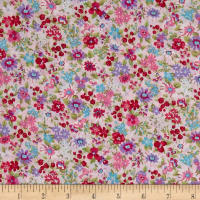 Cosmo Garden Delight Small Floral Lawn Pink