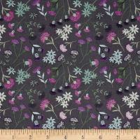 Lewis & Irene Celtic Blessings Thistle Floral Grey