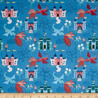 Lewis & Irene Dragons Dragon Castle Light Blue