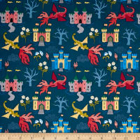 Lewis & Irene Dragons Dragon Castle Dark Blue