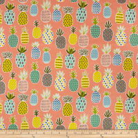Cosmo Scandi Woods V Printed Canvas Peach