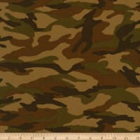 Kaufman Sevenberry Camouflage Camo Earth