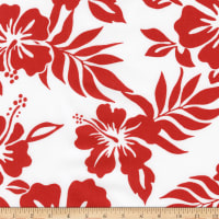 Kaufman Sevenberry Island Paradise Flowers Red