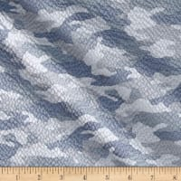 Kaufman Sevenberry Plisse Collection Camo Grey