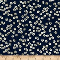 Kaufman Sevenberry Nara Homespun Small Flower Indigo