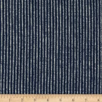 Kaufman Sevenberry Nara Homespun Dash Stripe Indigo