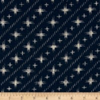 Kaufman Sevenberry Nara Homespun Space Geo Indigo
