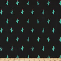 Kaufman Sevenberry Mini Prints Cactus Black