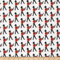 Kaufman Sevenberry Mini Prints Palace Guards White