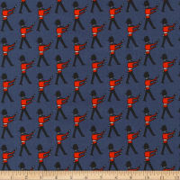 Kaufman Sevenberry Mini Prints Palace Guards Navy