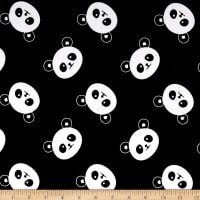 EZ Fabric Minky Panda Black
