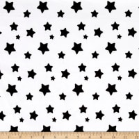 EZ Fabric Minky Stars Black