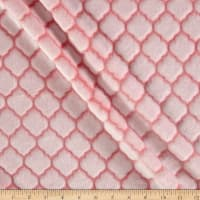 Shannon Minky Cuddle Embossed Tile Spa Coral