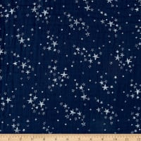 Shannon Embrace Double Gauze Starry Night Metallic Cobalt/Silver