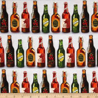 Kaufman Cheers Digitally Printed Beers Grey