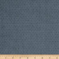 Kaufman Quotes Chambray Yarn Dyed Hash Dot Indigo