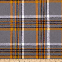 Kaufman Durango Flannel Plaid Grey