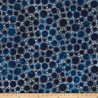 Kaufman Artisan Batiks Color Source Large Bubbles Navy